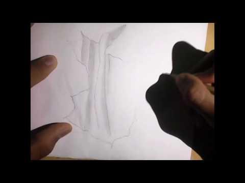 Cara menggambar jurang 3d sederhana