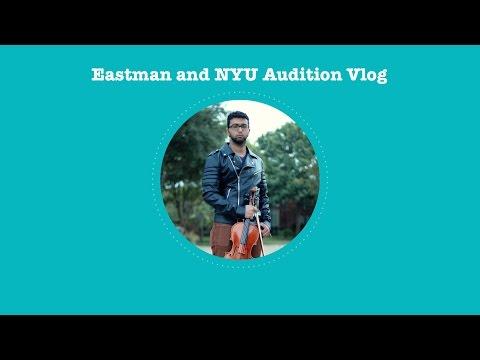 Eastman and NYU Audition Vlog