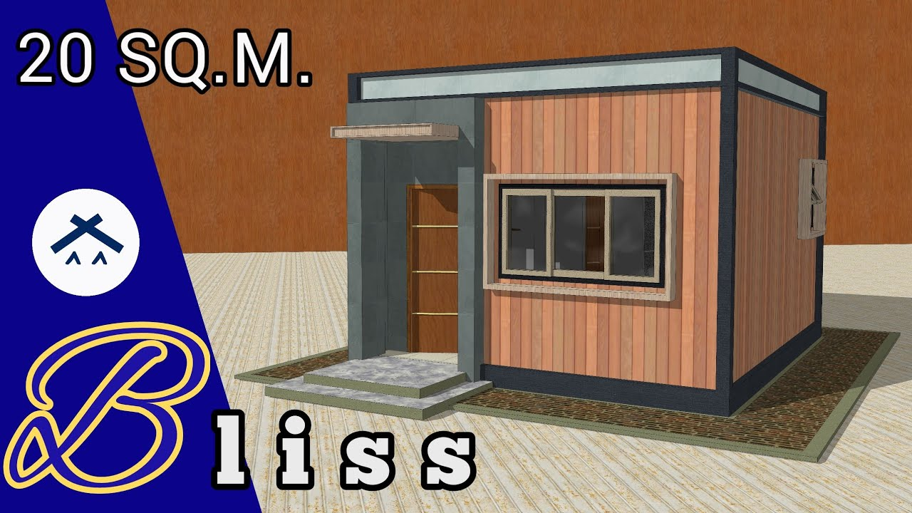 Small Space 4x5m (20sqm.) House Floor Plan/Design Idea ...