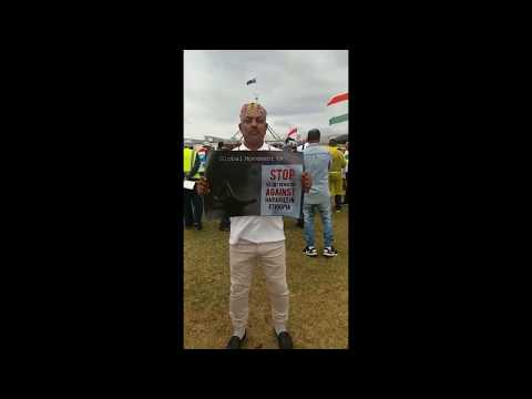 Global Harari Peace March - Justice for Harar in Canberra, Australia
