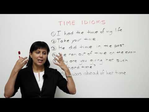 Learn English   6 common idioms about TIME