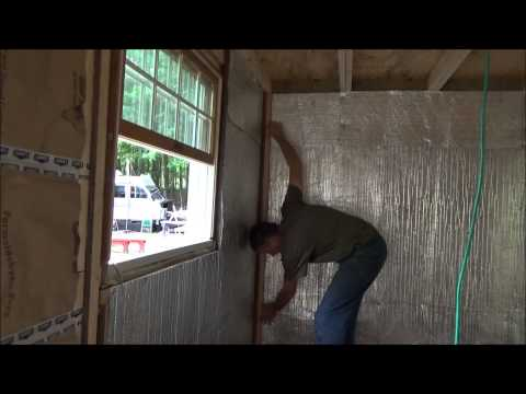 Installing Radiant Barrier And The First Paneling In My Tiny