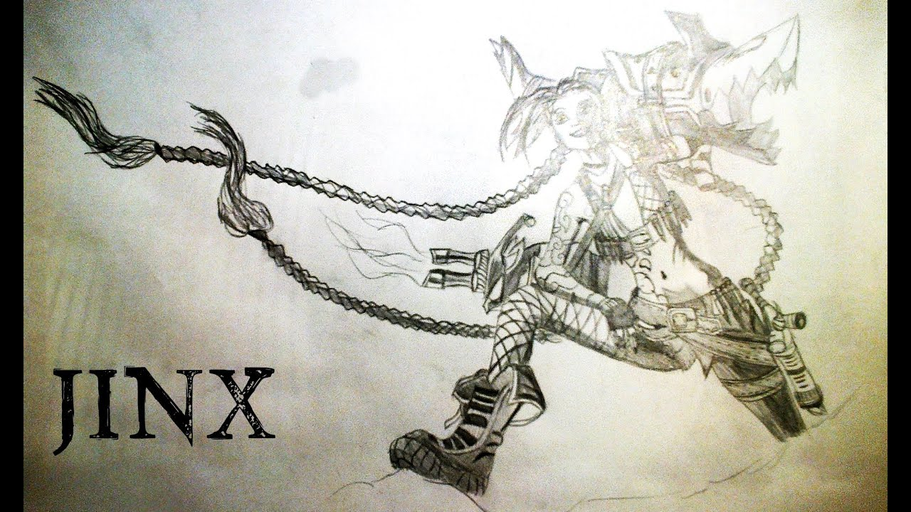 league of legends jinx drawing