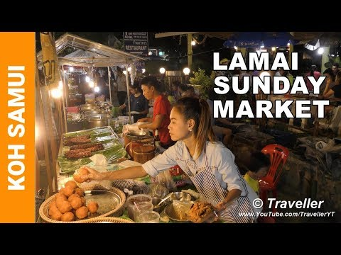 Lamai Sunday Market - Just the food! - Koh Samui holiday attractions - Thai Street food at its best