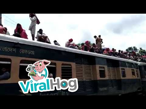 Risky Rail Train Travel || ViralHog