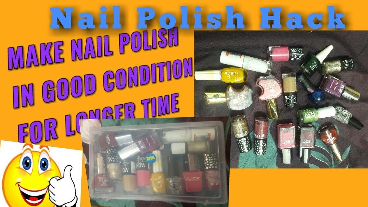 NAIL POLISH HACK-HOW TO STORE NAILPOLISH to keep long lasting