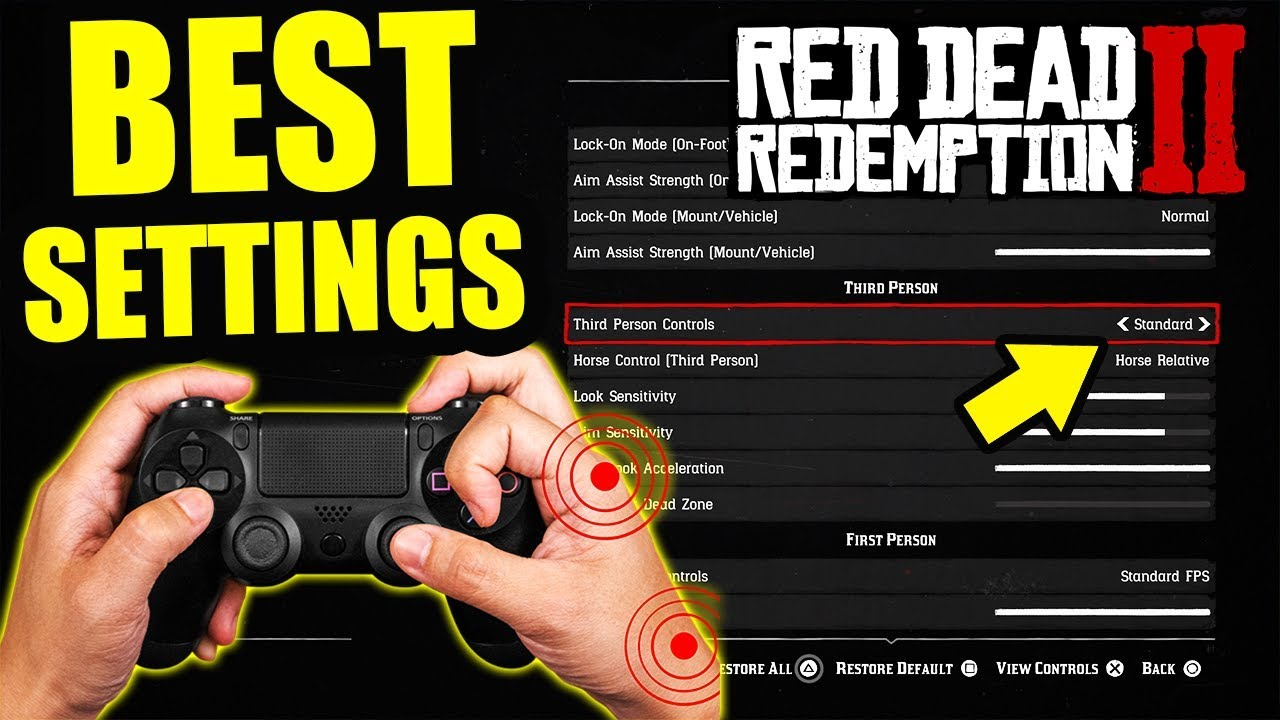 The 5 BEST Red Dead Redemption 2 CONTROLLER SETTINGS! RDR2 Settings For  More RESPONSIVE CONTROLS!