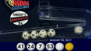 2017 01 20 Mega Millions Numbers and draw results