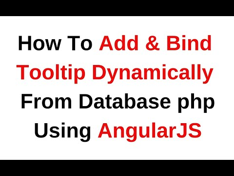 angularjs 1 5 11 tooltip on hover example - YouTube