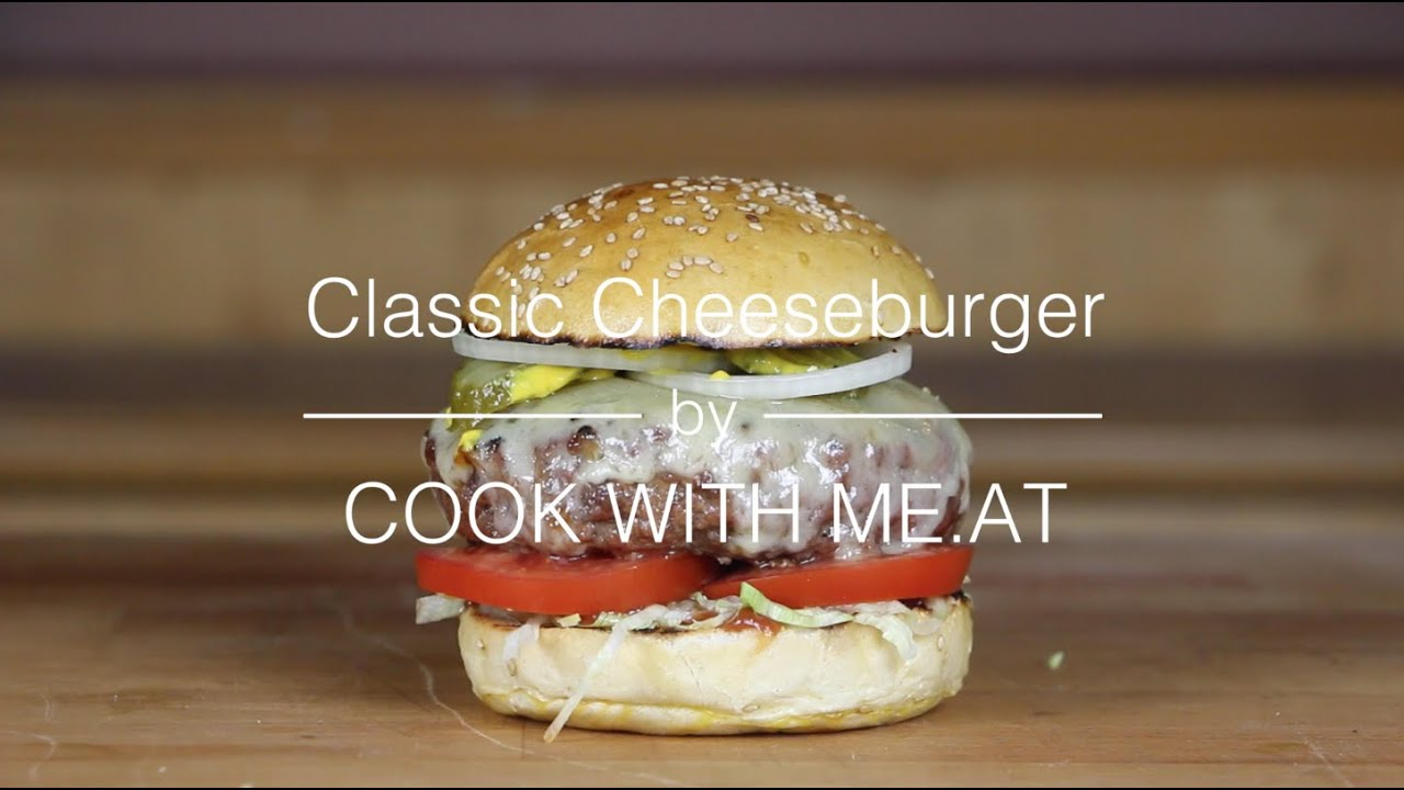 Classic Cheeseburger - Grilled on the Big Green Egg - COOK WITH ME ...