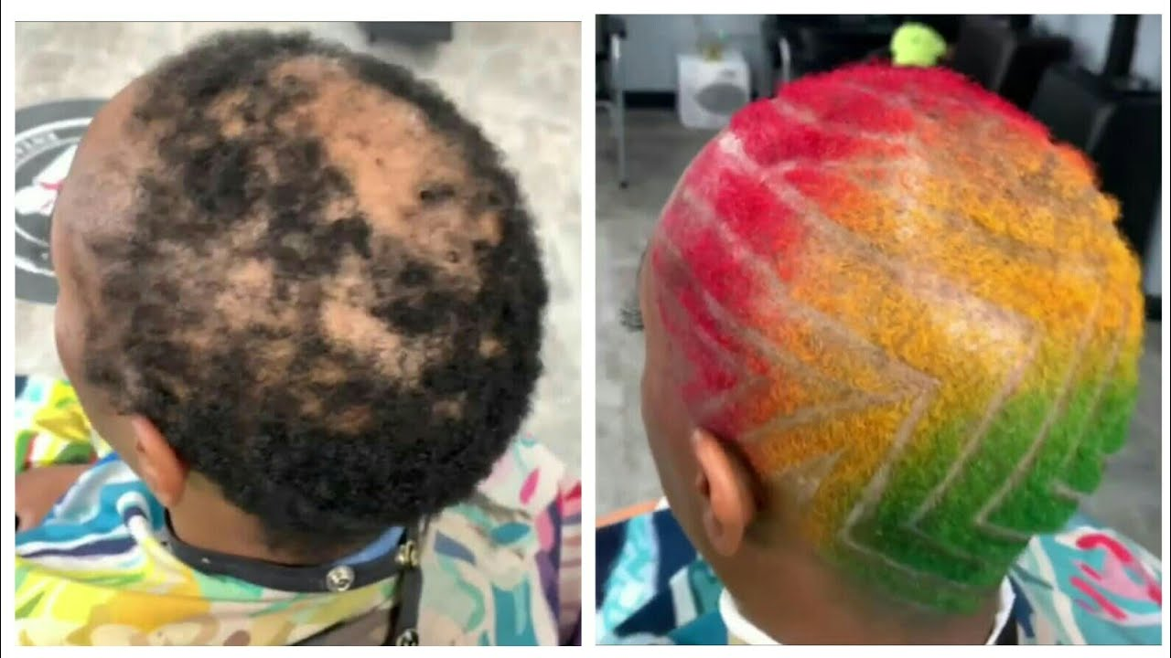 Short Afro Hairstyle For Women Alopecia Client Cut By Tap