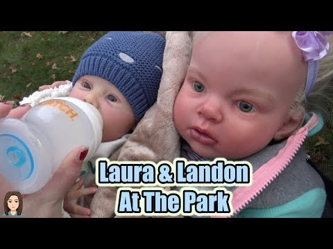 Reborn Babies Laura and Landon Go To The Park! Reborn Skit | Kelli Maple