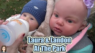 Reborn Babies Laura and Landon Go To The Park! Reborn Skit Kelli Maple