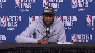 Kevin Durant Postgame Interview Game 7 Warriors vs Rockets 2018 NBA West Finals