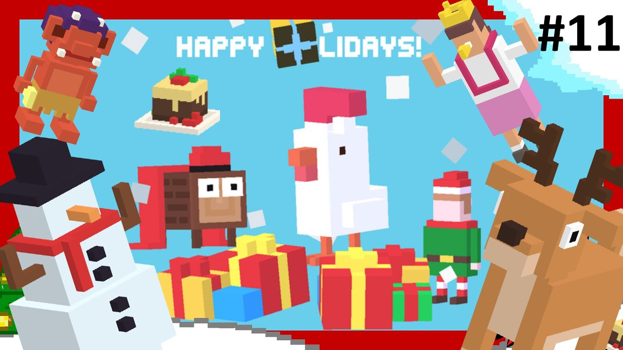 crossy road christmas update 2 new secret characters 7 others 11 xmas holiday time - Is 7 11 Open On Christmas