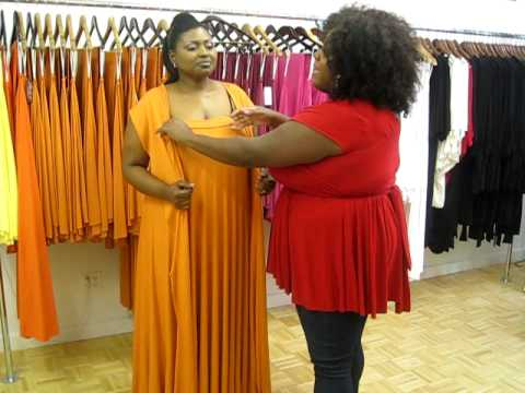 Monif C Plus Sizes Marilyn Convertible Dress Video 4 Jill Scott Wrap