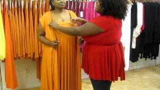 Monif C. Plus Sizes Marilyn Convertible Dress Video #4 - Jill Scott Wrap