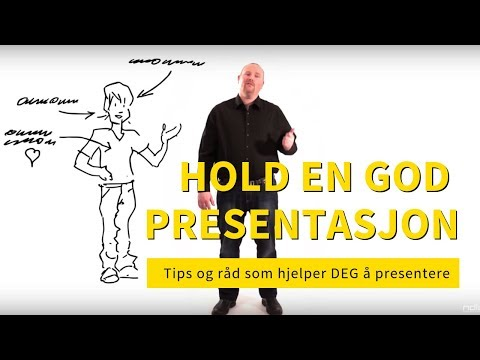 Presentasjoner - råd og tips som hjelper deg å presentere