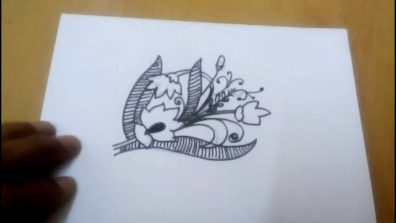 Easy Free Hand Drawing Flowers Youtube