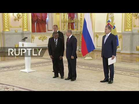 LIVE New US ambassador to Russia presents credentials to Putin in the Kremlin