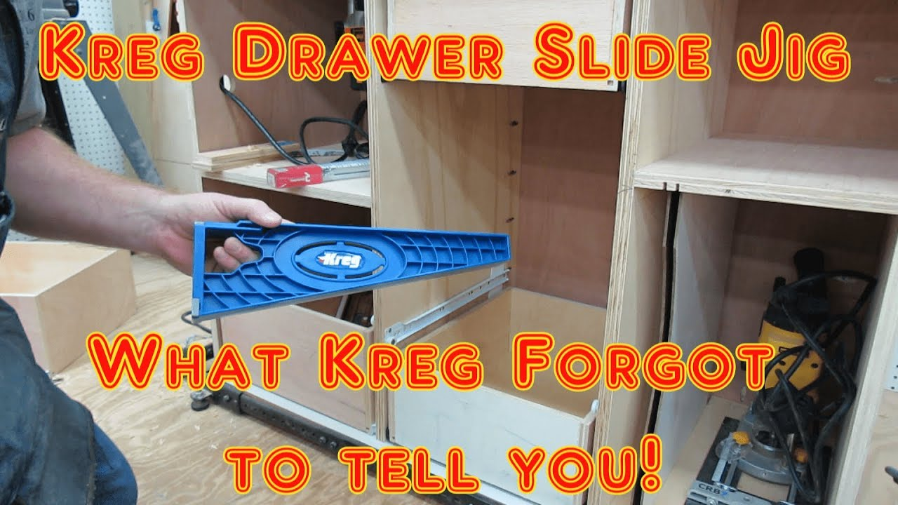 quick tip!! what kreg didn 't explain with new drawer slide jig