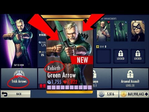 Rebirth Green Arrow! Injustice Gods Among Us 2.18! iOS/Android!