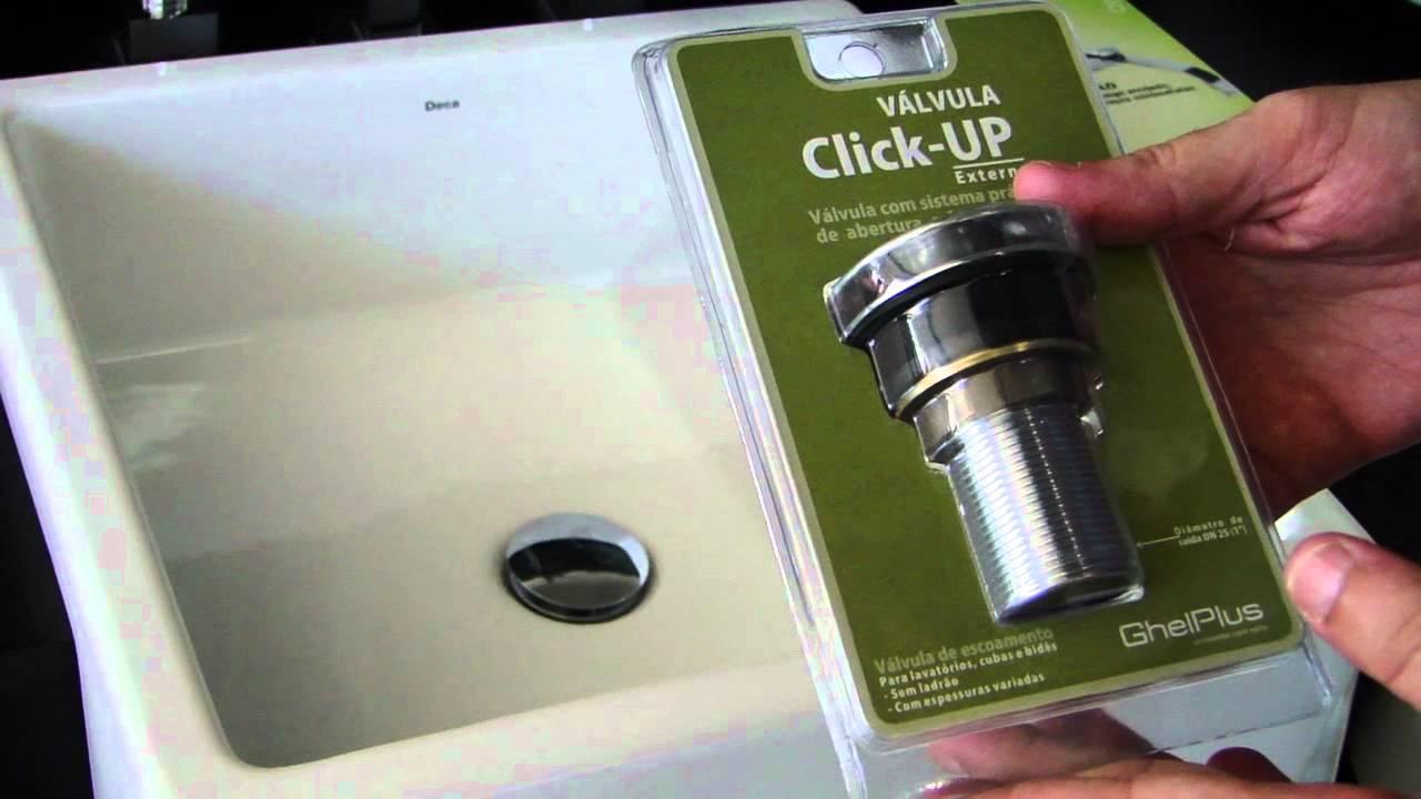 Valvula de escoamento para lavatorio click up externo - Valvulas para lavabos ...