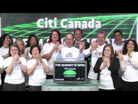 Citi: Citi Canada Opens The Toronto Stock Exchange For Global Community Day
