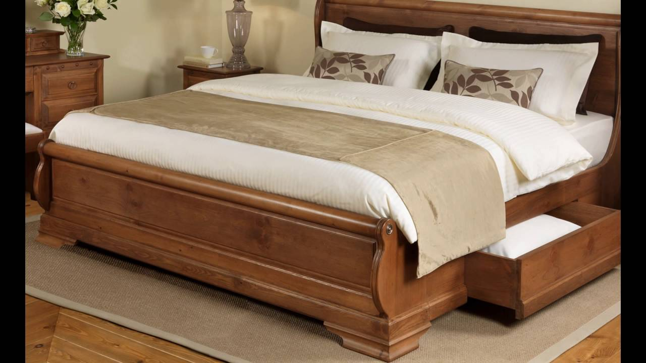 Wooden Beds With Storage ~ Wooden storage beds youtube