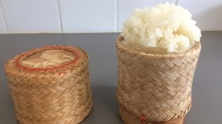 How to cook sticky rice in a bamboo steamer