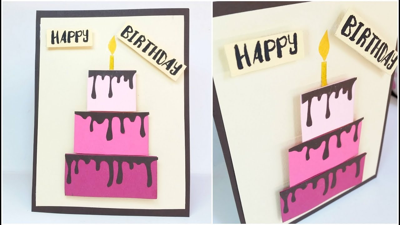 Happy birthday cake card design ideas diy 3d handmade cards for happy birthday cake card design ideas diy 3d handmade cards for birthday tutorial step by step kristyandbryce Image collections