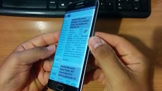 Captura pantalla screenshot Samsung Galaxy S6 Edge