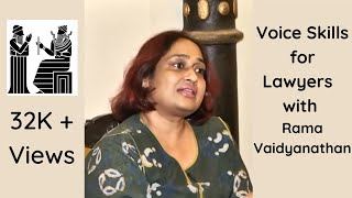 Voice Skills for Lawyers Rendezvous with Rama Vaidyanathan