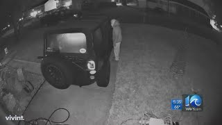 Car break-in caught on camera, Portsmouth woman warns community