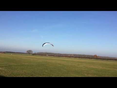First paramotor landing