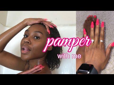 self care & pamper day ❤️ (TREAT YO SELF) thumbnail