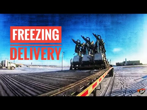 My Trucking Life | FREEZING DELIVERY | #1851