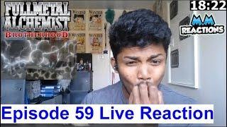 Scar vs king & mustang's lost!! - fullmetal alchemist brotherhood episode 59 live reaction