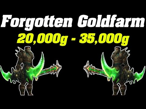 Legion: 20,000g - 35,000g Forgotten Goldfarm | WoW Gold Farming Guide |