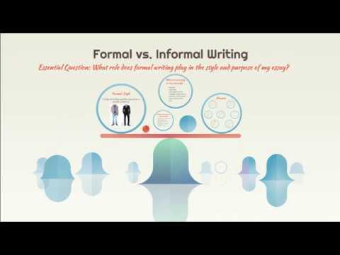 Informal vs. Formal Notes Video