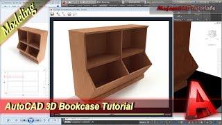 AutoCAD Design 3D Bookcase Modeling Tutorial For Beginner