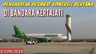 Download Video Pendaratan Perdana Dan Pertama Pesawat Komersil Di Bandara Kertajati (8 Juni 2018) MP3 3GP MP4
