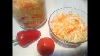 Маринованная капуста за 8 часов. Салат лёгкий в приготовлении