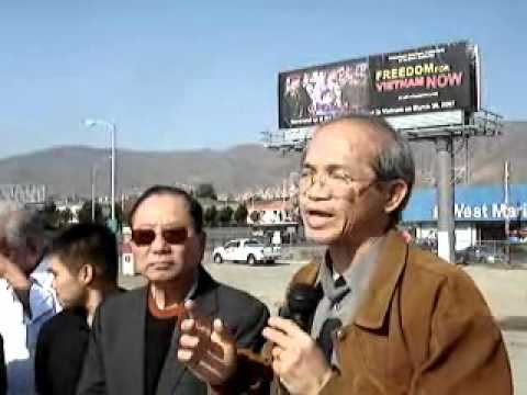 Billboard Father Nguyen Van Ly takes aim at Vietnamese communist government