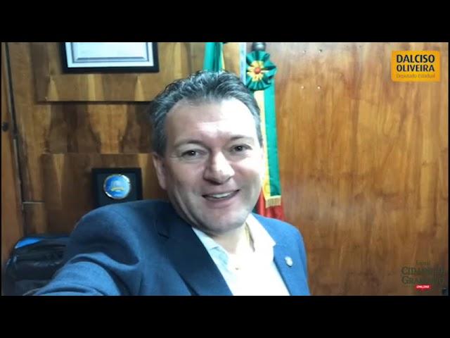 Deputado Dalciso Oliveira saúda o Cidade de Gramado Online