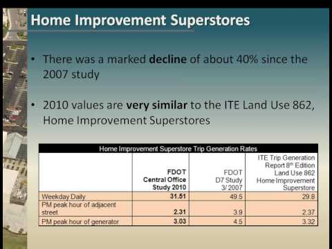 Florida DOT Systems Planning 2011 webinar on Trip Generation