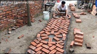 Innovative Construction Using Bricks And Mortar To Make Paths - Smart Building Ideas
