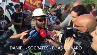 Fin del encierro y la huelga de hambre de los Mineros del Pozo Aurelio