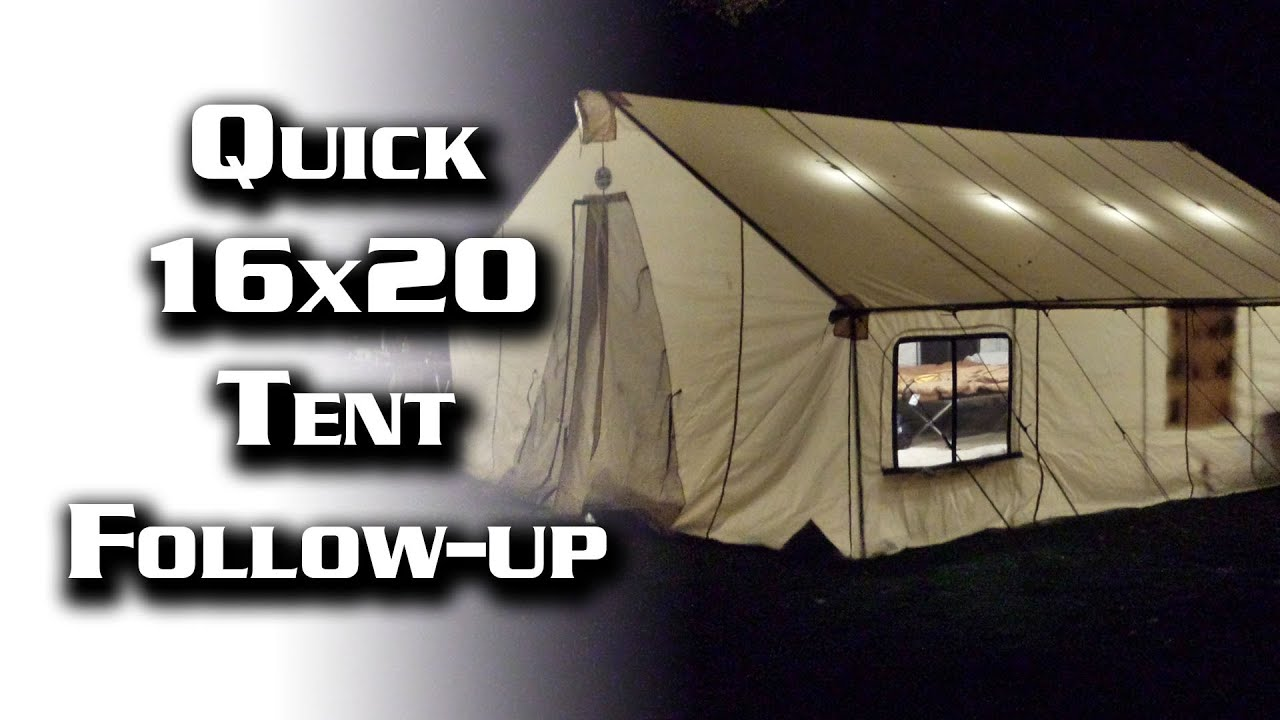 sc 1 st  YouTube & Quick Tent Follow-Up: 16x20 Davis Tent - YouTube