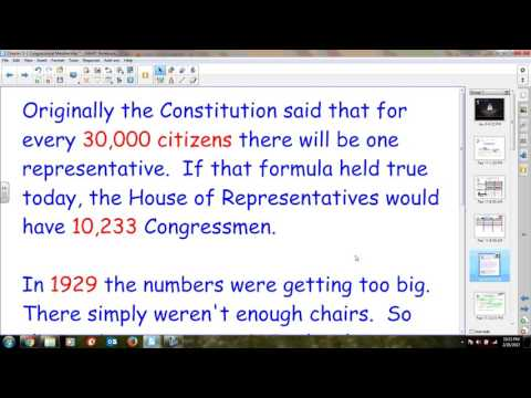 Chapter 5-1 Congress and Reapportionment
